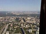 Панорама Москвы с Останкинской телебашни.